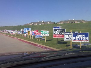 More election litter