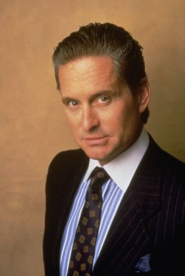 Michael Douglas as Gordon 'Greed is Good' Gekko in Wall Street.